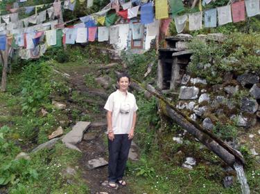 Sheila at Guru Rinpoche site