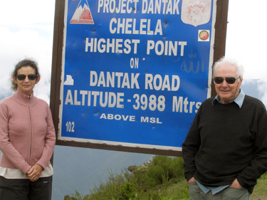 Sign at Chele La (pass)