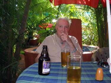 Derek in restaurant garden