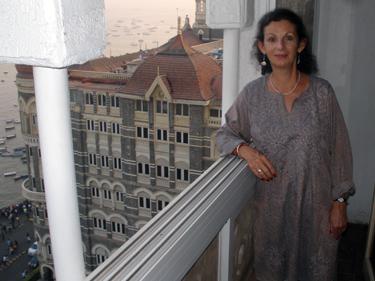 Sheila on balcony