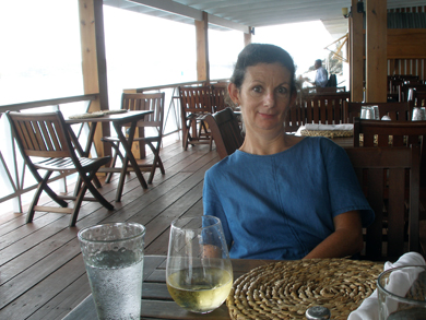 Sheila at Sails restaurant in St George's