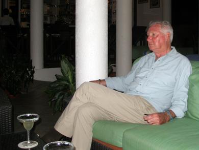 Derek in the Cacique Lounge