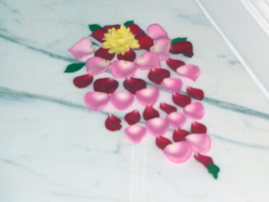 Flower petal decoratiom
