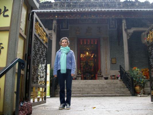Sheila at Taoist temple