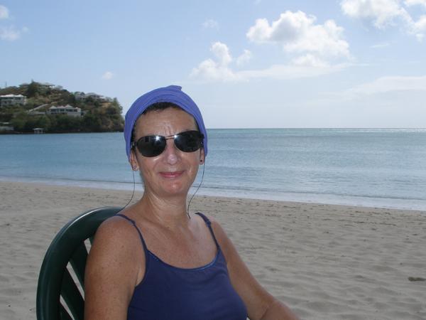 Sheila on beach