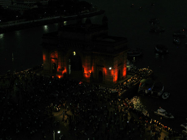Gateway at night