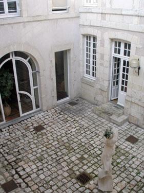 Hotel inner courtyard