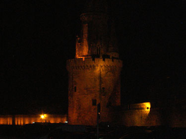 Night scene on the quay