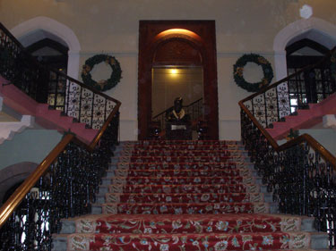 Main staircase in hotel