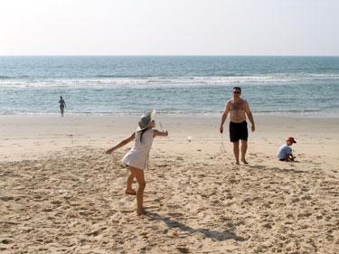 On the beach in Goa
