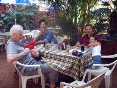 In the Venice restaurant garden