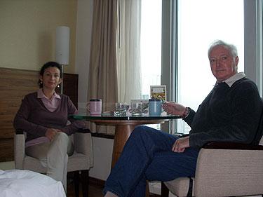 Sheila & Derek at breakfast