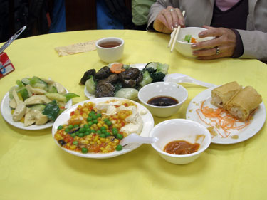 Vegetarian lunch at Po Lin monastery