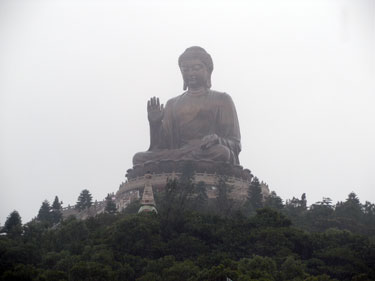 Giant Buddha statue At Po Lin monastery