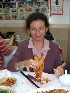 Sheila and crab claw