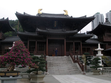Derek at Chi Lin nunnery