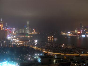 Night scene from hotel room