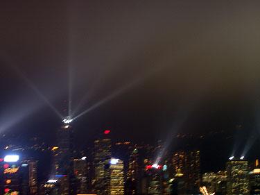 Evening light show