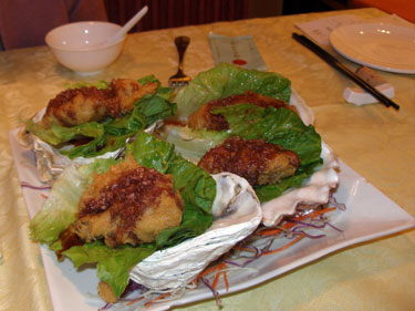 Giant baked oysters