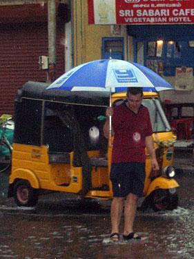 Gareth in the rain