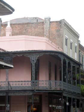 Old buildings in French Quarter