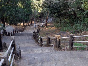 Steps up the Chandreshwar Bhutnath Temple