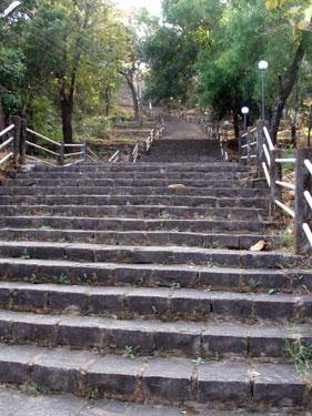 Steps up to Chandreshwar Bhutnath Temple