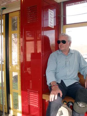 Derek on streetcar
