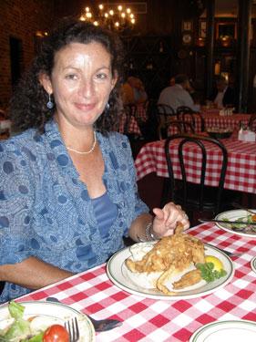 Sheila in restaurant