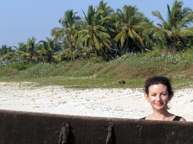 Sheila at beach