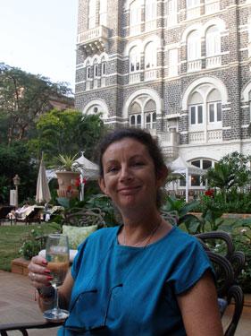 Sheila  in inner courtyard