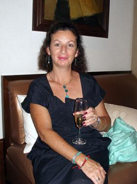 Sheila in bar
