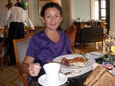 Sheila at breakfast