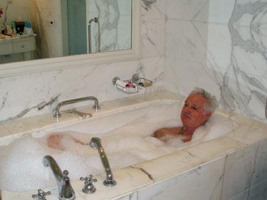 Derek in bath